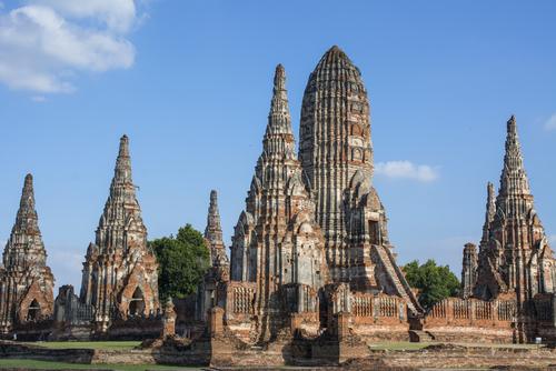 Widok na światynie Wat Chai Wattanram w Ayutthaya