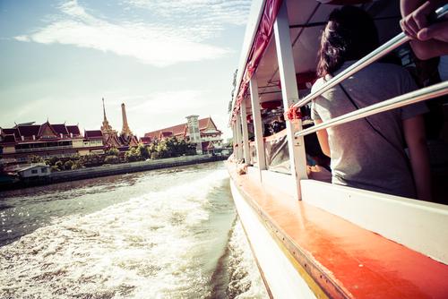 przejażdżka Chao Praya Express Boat Bangkok podczas jednego dnia w Bangkoku
