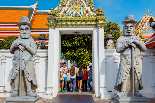 Farang Guards Wat Pho Bangkok