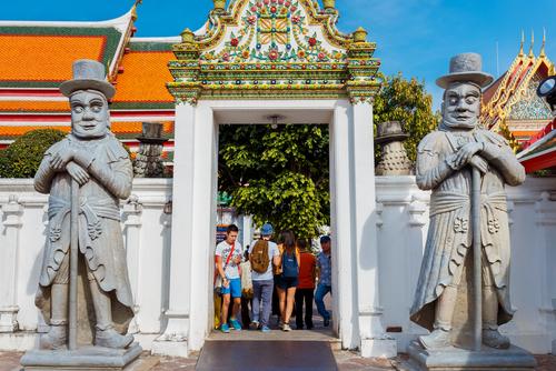 Farang Guards Wat Pho Bangkok