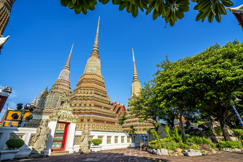 Chedi Czterech Królów Wat Pho Bangkok