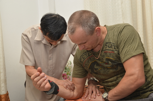 Tradycyjny tajski masaż Wat Pho Bangkok