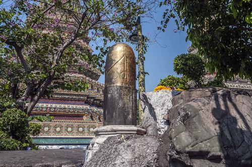 Siva lingam Wat Pho Bangkok