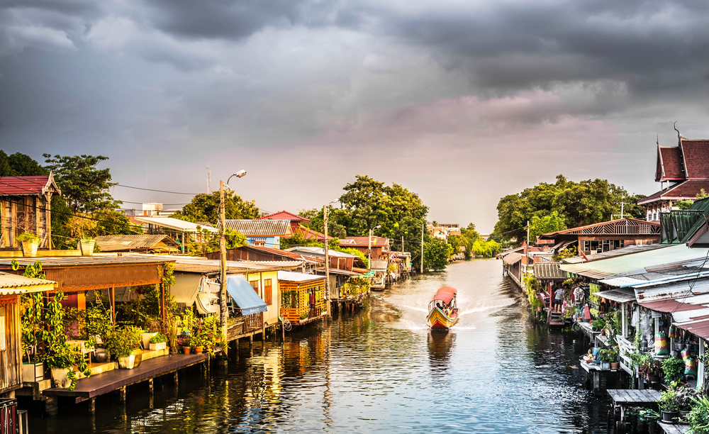 rejs po kanałach Thonburi Bangkok