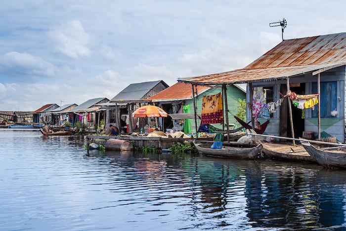 Pływające domy Jezioro Tonle Sap